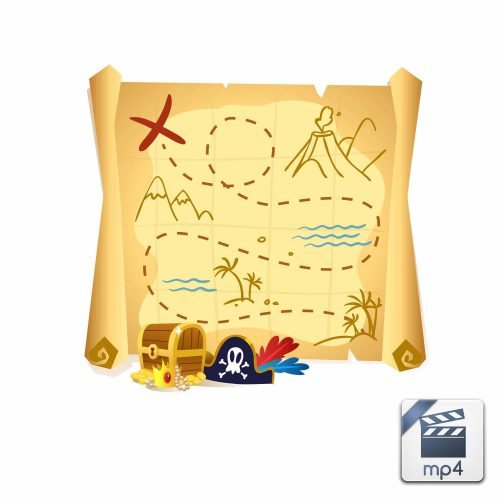 The Treasure Map is a Popular Site - خط یک